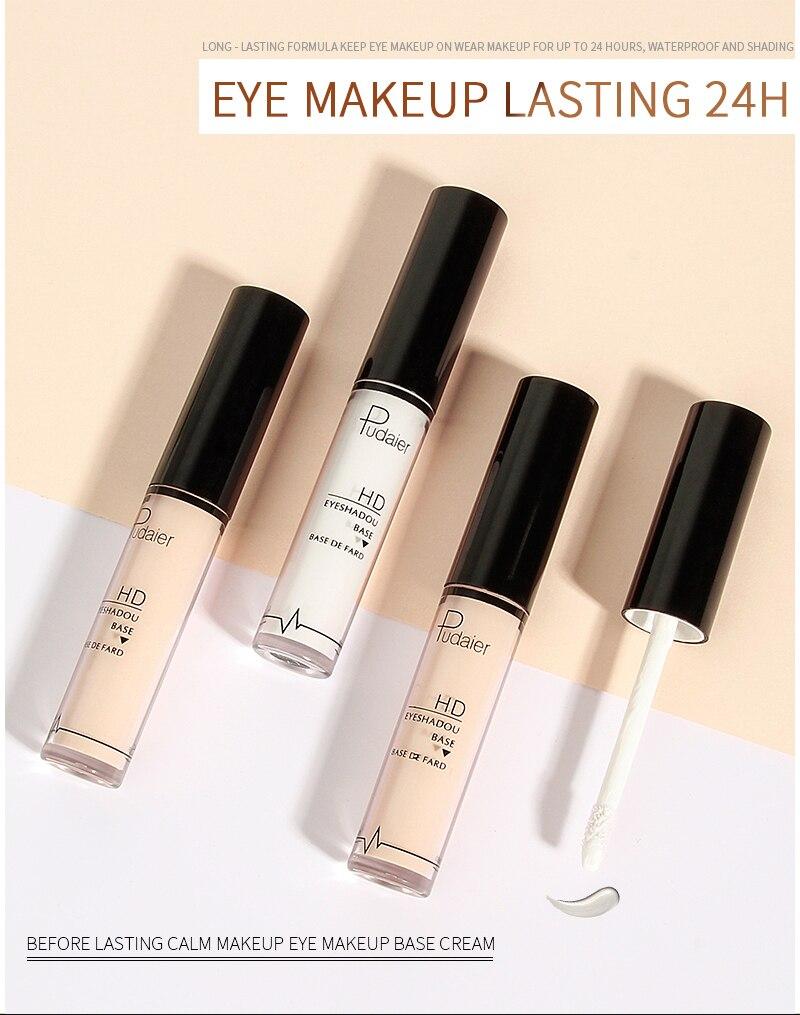 Eye Primer Eye Base Cream Long Lasting Eyelid Primer Liquid Base Eyeshadow Base Primer Makeup Include 1Pcs Eyebrow Pencil TSLM1