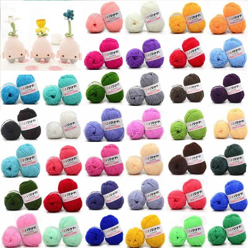 Milk Cotton Yarn Comfortable Wool Blended Yarn Apparel Sewing Yarn Hand Knitting Scarf Hat Yarn crochet knitting yarn(China)