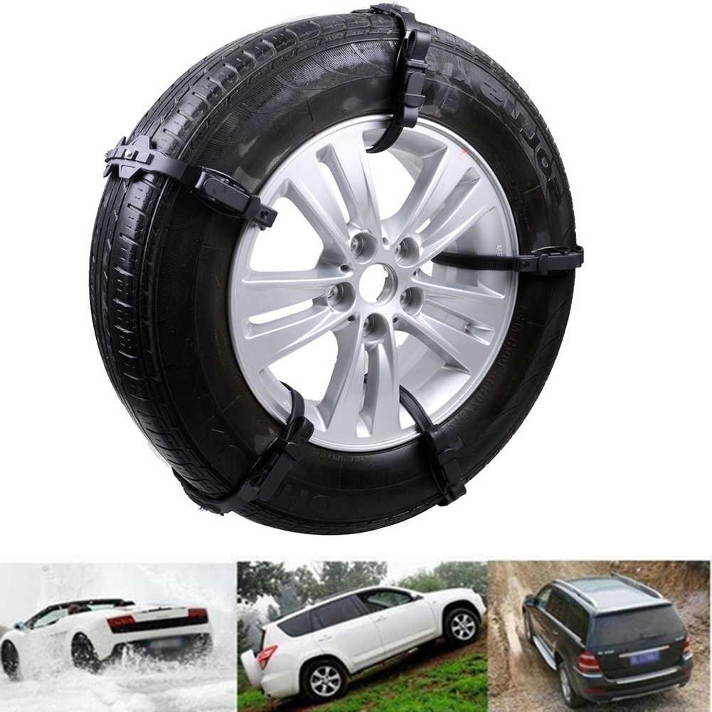 10Pcs Winter Auto Fahrzeug Anti-slip Rad Reifen Reifen Schnee Schlamm Sand Kette TPU Gürtel 2019