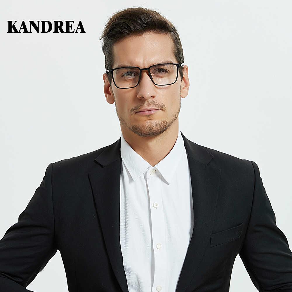 Kandrea 2020 moda yeni Metal kare erkek gözlük çerçevesi klasik tasarım gözlük büyük boy miyopi gözlük bilgisayar gözlükleri
