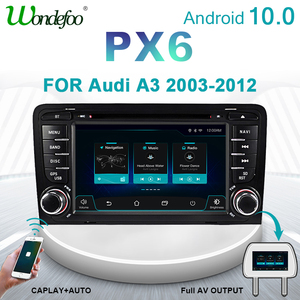 PX6 2 DIN Android 10 car radio For Audi A3 8P 2003-2012 S3 2006-2012 RS3 Sportback 2011 2din radio tape recorder stereo audio BT(China)