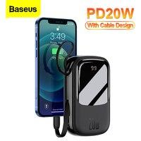 Baseus Mini Power Bank 20000mAh USB tipo C PD 20W caricabatterie a ricarica rapida Powerbank batteria esterna portatile per iPhone 12 Xiaomi
