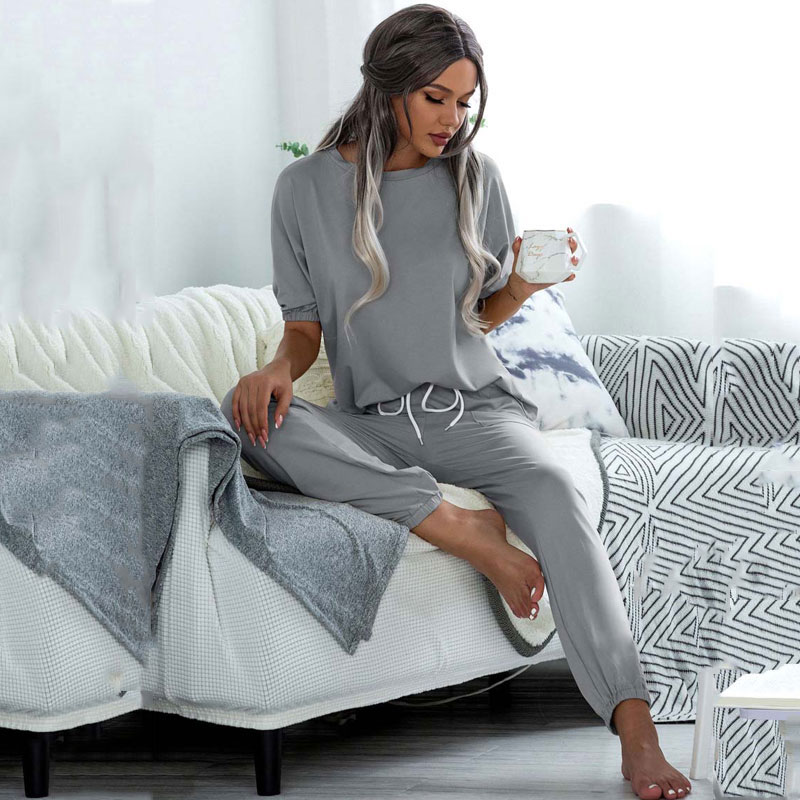 2021 летний пижамный комплект, женская одежда для сна, комплект одежды для отдыха, домашняя одежда для женщин, домашний костюм для дам
