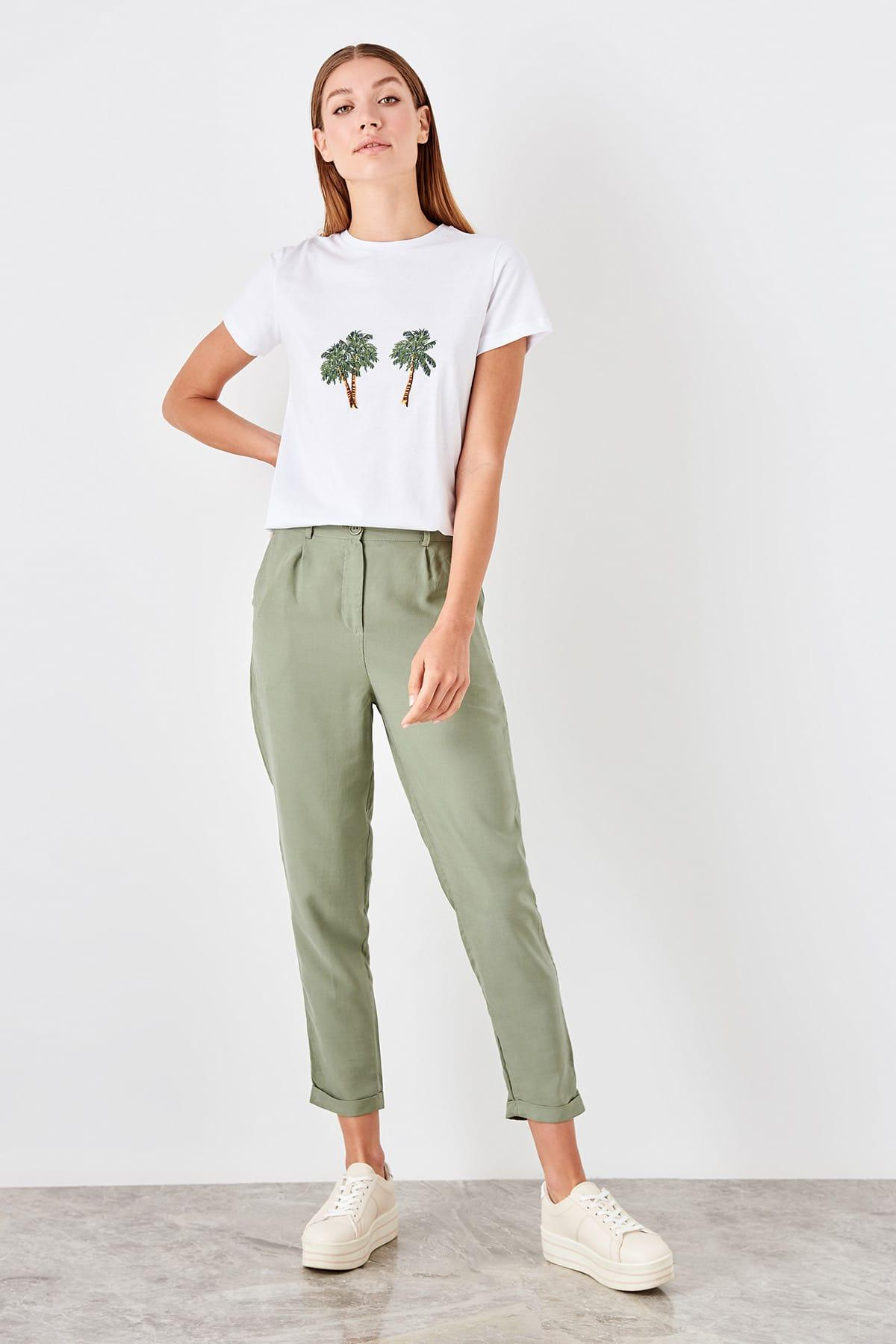 Trendyol Green Liyosel Carrot Pants TOFSS19ST0009