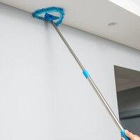 Fregona de felpilla retráctil, barrido de polvo de pared y azulejos de techo, limpieza portátil para el hogar, ventana de vidrio, hisopo largo hasta el suelo