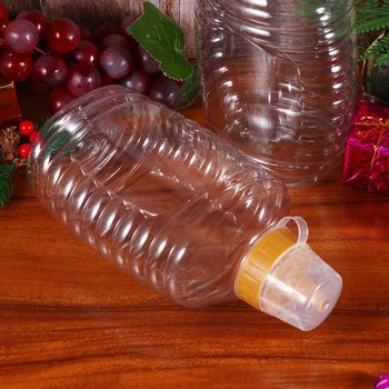 4 szt Przeźroczyste tworzywo sztuczne miód butelka do pakowania żywności butelka miód słoik z pokrywką miód butelka dżem pojemnik dla domu tanie i dobre opinie OUNONA CN (pochodzenie) Honey Bottle