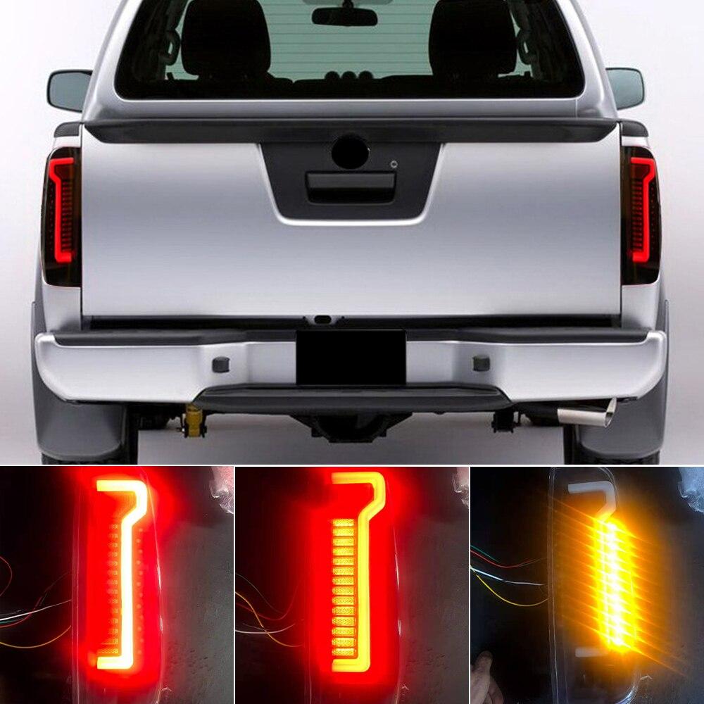 1 Juego para Nissan Navara D40 frontera 2005 -2015 estilo de coche LED luz trasera rojo luz trasera de freno lámpara luz de freno Luz de lámpara de advertencia