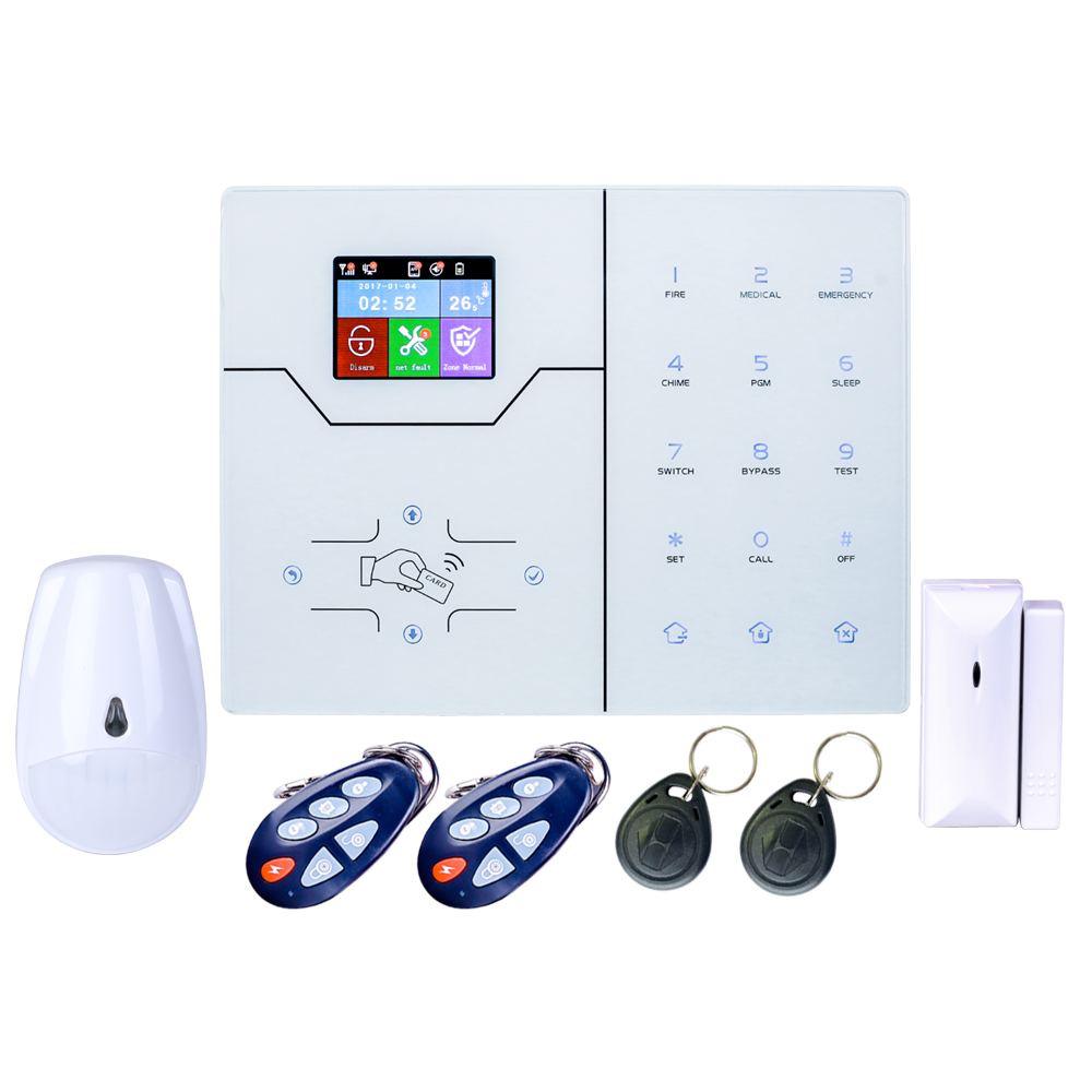English French Menu HA-VGW Wifi Alarm GSM Alarm System Security Home Burglar Alarm Automation Anti Thief With App Control