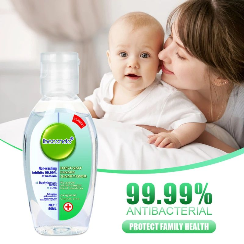 3pcs 50ml Antibacterial Hand Sanitizer Disinfection Hand Soaps Wash Gel Quick Dry Hand Gel 75% Alcohol Kids Adult Home Phone