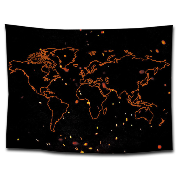 World Map Print Tapestries Sit Blanket Wall Tapestries Sofa Towel Home Hanging Painting Decorative Table Cloth