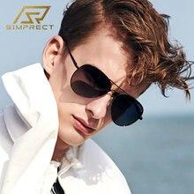 Мужские фотохромные солнцезащитные очки simprect pilot поляризационные