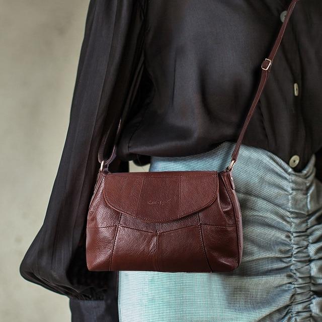 كوبلر ليجند 2020 جلد طبيعي للنساء رسول/حقيبة كروسبودي السيدات حقائب كتف صغيرة خمر حقائب جلد البقر الإناث