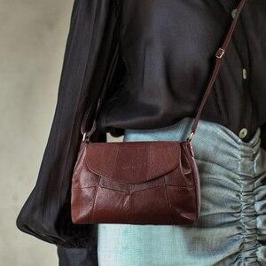 Image 1 - Cobbler Legend 2020 Genuine Leather Women Messenger/Crossbody Bag Ladies Small Shoulder Bags Vintage Female Cowhide Satchels