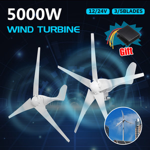 Image 1 - 1000 ワットの風力発電タービン発電機 12V 24V 3/5 Blades オプション防水充電コントローラのためのフィット home またはキャンプ