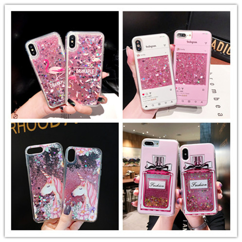 Painted Quicksand Cases For Samsung Galaxy J8 J6 J4 Plus J7 Prime J5 J3 Pro J2 Core 2018 2017 J1 2016 ON7 ON5 Covers image