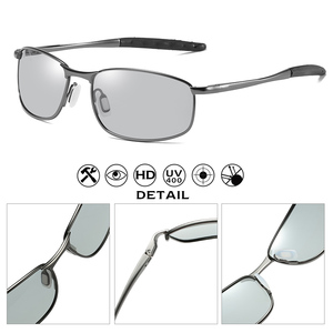 Image 4 - Gafas de sol fotocromáticas polarizadas para hombre y mujer, lentes de sol fotocromáticas de tamaño pequeño, Forma ovalada, adecuadas para conducir