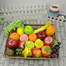 Food-Photography-Props Ornament Lemon Peach-Pear Mango Banana Fake-Fruits Artificial Apple