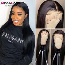 180 Density Straight Lace Front Wig HD Transparent Human Hair Lace Frontal Wigs T Part Brazilian Hair Wig 30 Inch Lace Front Wig