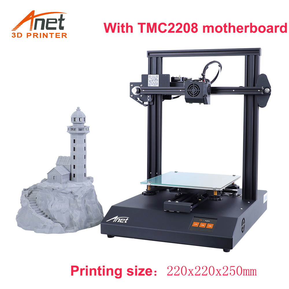 Anet ET4 Pro 3D Printer Kit DIY TMC2208/A4988 impressora 3D Support Resume Power Failure Printing FDM with 10M Filament