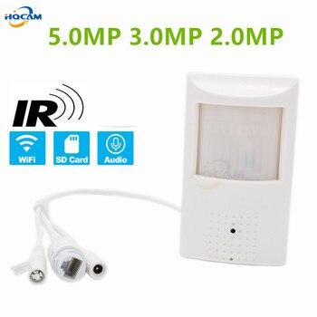HQCAM WIFI gniazdo TF 2MP 3MP 5MP 2560x1920 PIR styl kryty Onvif bezprzewodowa kamera IP niewidoczne 940nm IR LED wbudowany mikrofon camhi