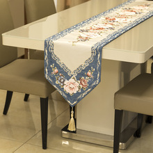 Luxury Chenille Table Flag Cover Cloth 32*210cm Table Runner Chinese Style Tablecloth Bed Flag TV Cabinet Cover Towel proud rose luxury lace table runner romantic table flag embroidery cover towel tea table cloth tv cabinet towel
