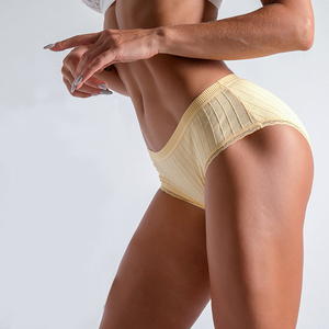 Image 3 - Women Cotton Briefs Lace Side Underwear Women Elastic Panties Mid Rise Sexy Panties Underwear Antibacterial Pants Culotte Femme