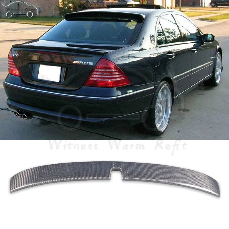 <font><b>W203</b></font> AMG style rear <font><b>spoiler</b></font> Carbon Fiber Roof wing For Mercedes-Benz C-Class car body kit 2001-2006 image