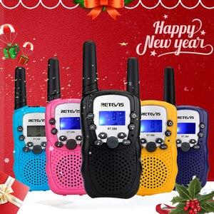 Image 1 - Портативная рация RETEVIS RT388, Детские рации, 2 шт., мини двухсторонняя радиостанция PMR, Рождественский подарок/для семейного использования/кемпинга, 100 800 м