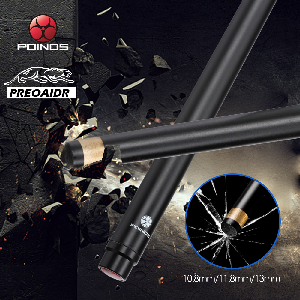 Preoaidr 3142 POINOS Billiard Carbon Fiber Shaft Pool Cue Stick Snooker 10.8mm/11.8mm/13mm Tip Uni-loc Bullet Joint Shaft Newly
