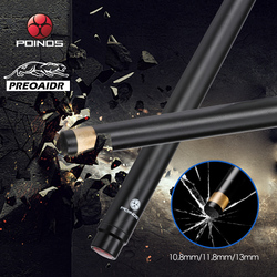 Preoaidr 3142 Poinos Biljart Carbon Fiber Shaft Pool Keu Snooker 10.8 Mm/11.8 Mm/13 Mm Tip uni-Loc Bullet Joint As Nieuw