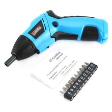 X-power 6V Cordless Electric Screwdriver Bits kit Wireless Screw Power Driver Drill Power Tools with LED Lighting
