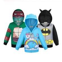 Новая куртка с капюшоном для мальчиков, Мстители, Человек-паук, Бэтмен, Тор Супермен, Капитан Америка, Железный человек, толстовка, Детская куртка, одежда