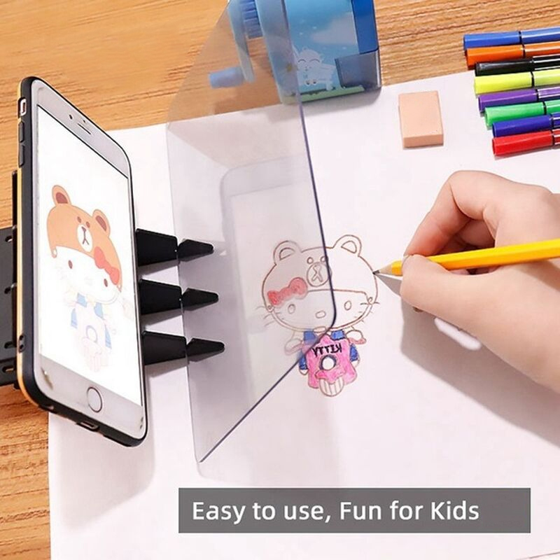 Latest Simple Optical Image Drawing Board Sketch Reflection Dimming Bracket Painting Mirror Plate PAK55