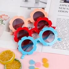 1 шт., винтажные детские солнцезащитные очки для мальчиков и девочек, детские солнцезащитные очки с круглым цветком, Красивые милые спортивные солнцезащитные очки UV400, продукт для улицы