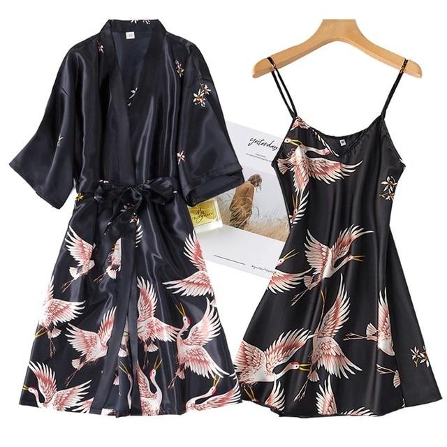 Nightwear Set with Robe 1