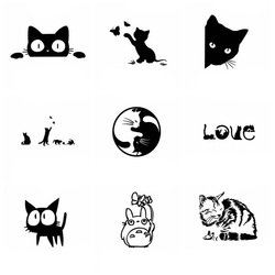 Leuke Kat Auto Stickers En Decals Wrap Vinyl Dieren Auto Producten Voor Auto Ramen En Body Decoratie Stickers Op De auto