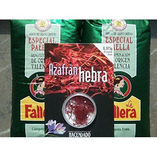 2x1kg Original Paella-Reis La Fallera + 0,375gr. Safran Hacendado