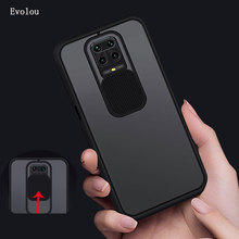 Slide Camera Lens Protection Phone Case for xiaomi Redmi Note 9S Note 9 Pro MAX Matte Back Cover for Redmi Note 9Pro phone cover|Fitted Cases|   - AliExpress