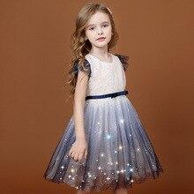 Girl Dress Summer Clothing 2020 New Princess Western Style Little Children Puff Yarn