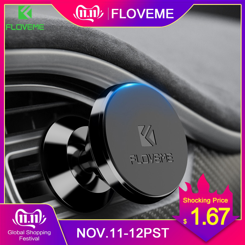FLOVEME Magnetic Car Phone Holder Air Vent Mount Magnet Smartphone Car Holder Stand GPS Dock Mobile Phone Support Universal