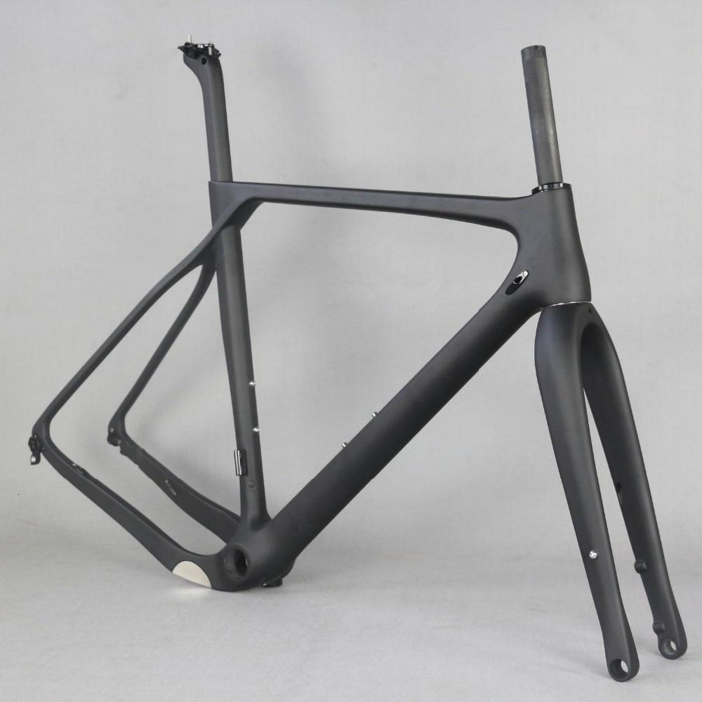 2019 Full Carbon Fiber Gravel Bike Frame GR030 , Bicycle GRAVEL Frame Factory Deirect Sale CUSTOMIZED PAINT Frame MEN Frame