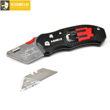KSHIELD Electrician Utility Knife Multifunction Pipe Cable Cutter Safety Multitool Pocket Folding Knives Cutting Box Paper