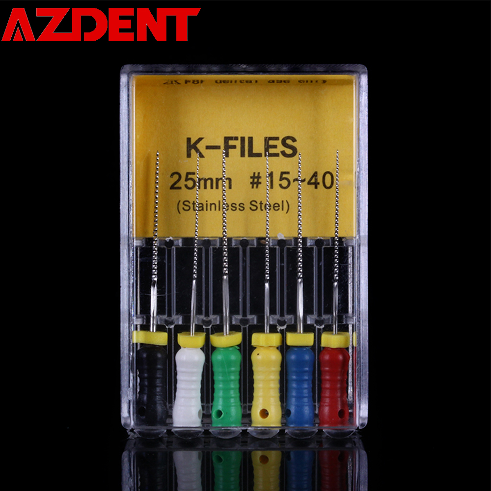 K-Files Stainless Steel 25mm 15#-40# Dental  Endodontic Root Canal Hand Use File Root Canal File