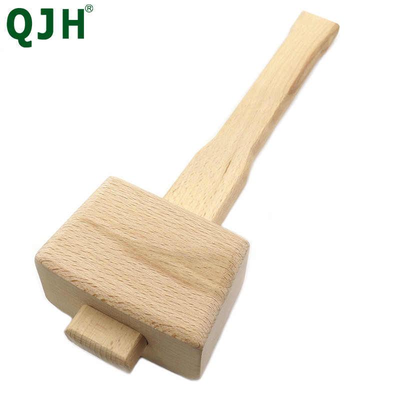 Solidny mały BeechWood Carpenter Mallet Beat drewniany młotek crafter narzędzia do obróbki drewna narzędzia ręczne DIY uniwersalne narzędzie skórzane