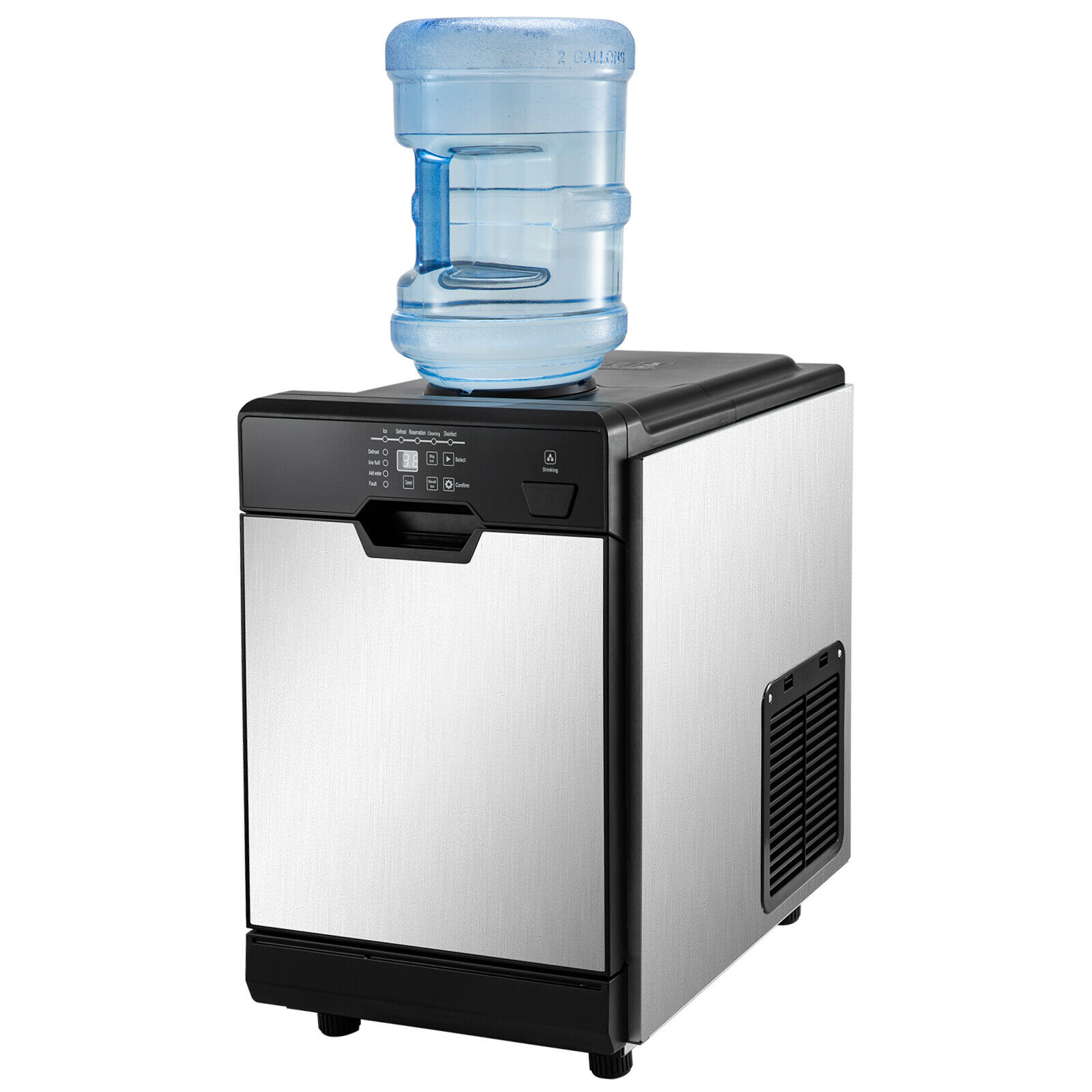 VEVOR 2 in 1 Commercial Ice Maker with Water Dispenser 78LBS in 24 Hrs 14LBS Cubes Perfect for Office Snack Bar