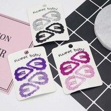 4PC Fashion Headwear Hair Clip Heart-shaped Pins Colorful BB Clips Hairpins Girls Accessories Children Baby Headdress