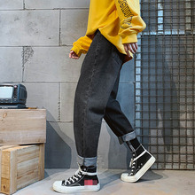 Vintage Design Denim Straight Elasticity pants Fashion Mens Classic Jeans Slim Fit Tapered Trousers Hip Hop Jogger Jeans Men цены