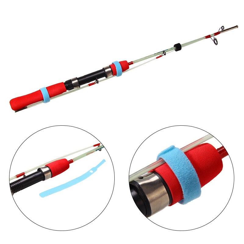 5Pcs/lot Fishing Accessories Fishing Rod Tie Reusable Nylon Holder Strap Suspenders Rod Belt Hook Loop Cord Belt Fishing Tackle