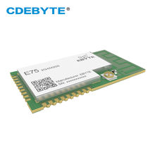 Ebyte E75-2G4M20S ZigBee Module JN5168 2.4GHz IoT 20dBm 256 KB Flash 32 KB RAM PCB Stamp Hole SPI  Wireless Transceiver