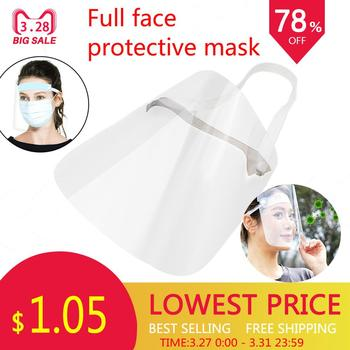 1/2/4PC Full Face Shield Mask Clear Flip Up Visor Protection Safety Work Guard For Droplet Dust Oil Fume 40P09